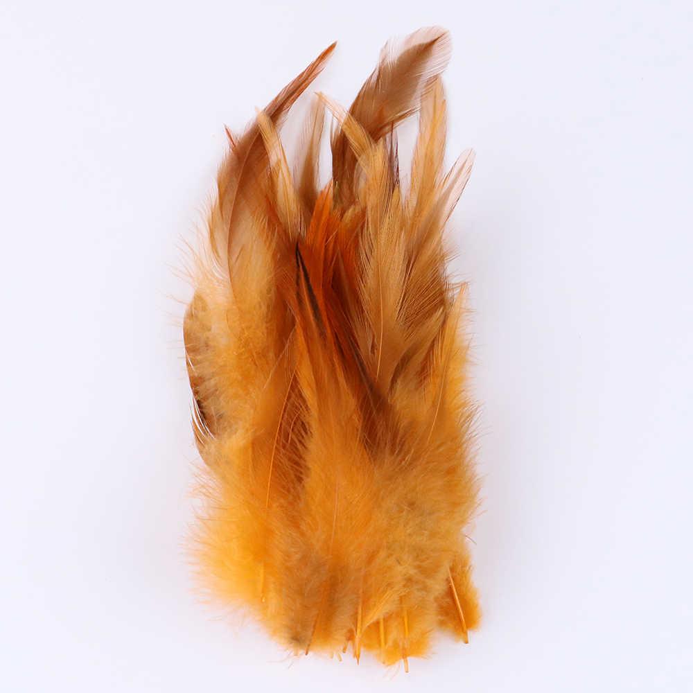 """50 개/가방 4-6 """"수탉 깃털 바느질 공예 스커트/드레스 장식에 대 한 고품질 치킨 깃털"""