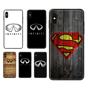 For Redmi Note 4 5 5A 6 7 8 8T 9 9S Pro Max Buying Luxury Car Infiniti Logo Black Soft TPU Case Coque Cover image