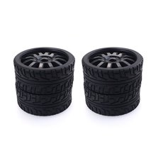 4PCS 1/8 RC Car Rubber Tyres Plastic Wheels for Redcat Team Losi VRX HPI Kyosho HSP Carson Hobao 1/8 Buggy /On-road car 1 8 rc car off road vehicles truck nitro change brushless perfect motor mounting holder kyosho hsp hobao fs racing