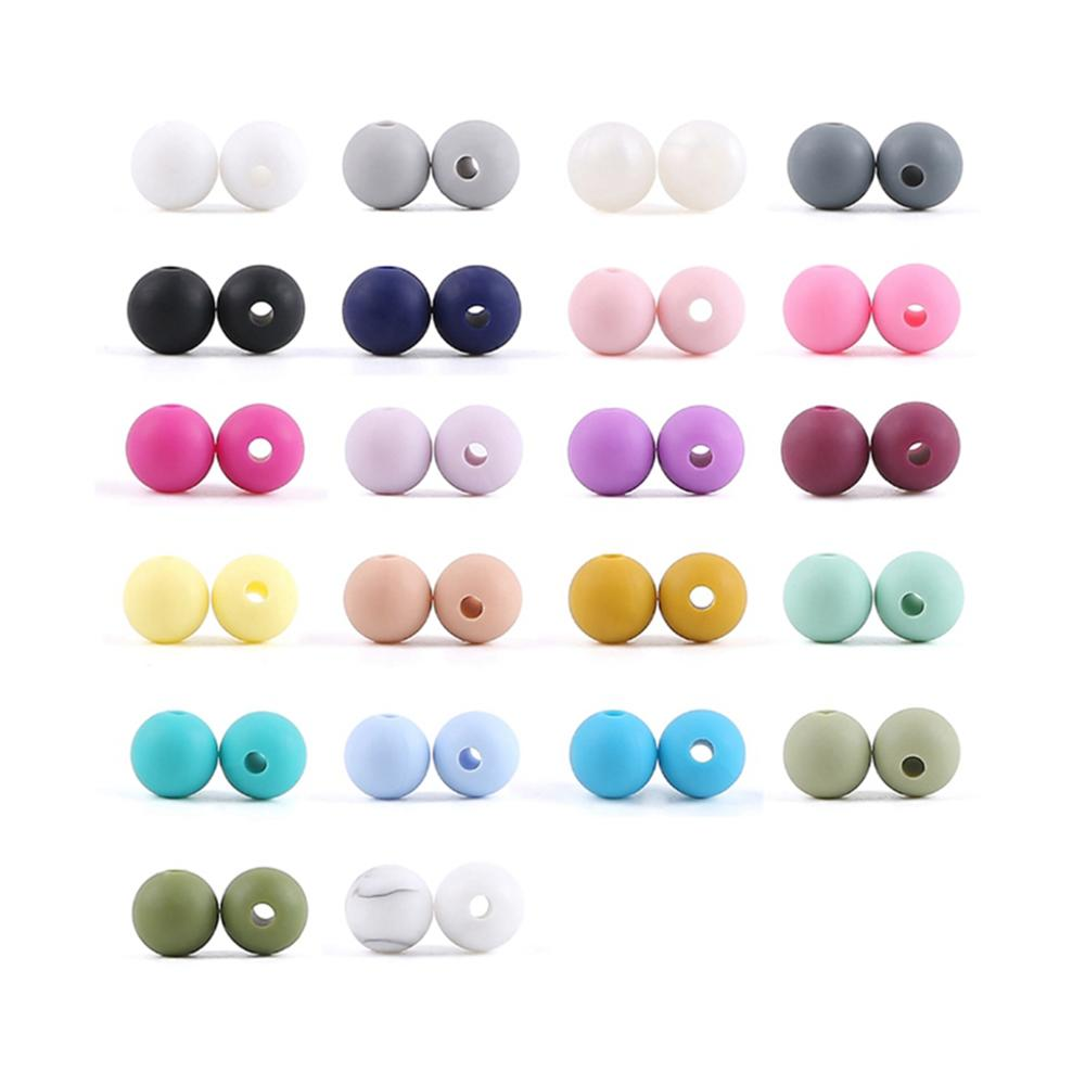 Let'S Make 300pc Silicone Beads 9mm Teething Rattle Bead Baby Teether Pearls Beads Silicone Teether Infant Toys For Baby Rattle