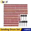 Набор шлифовальных барабанов CMCP, 338 шт., зернистость 80, 120, 320, 1/2 дюйма, аксессуары для шлифовки, инструменты