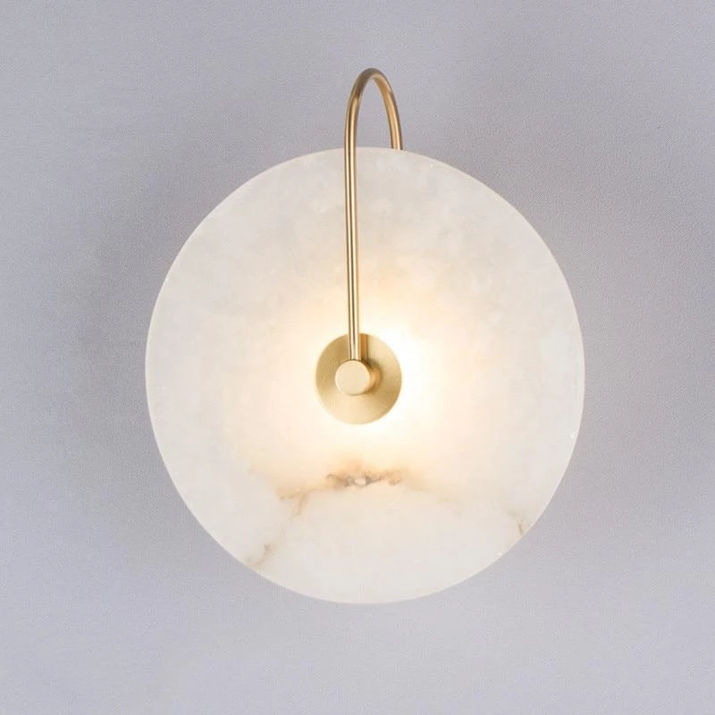 Zerouno Modern Sconce Lamp Wall Light Marble Lampshade LED Lighting Fixture for Home decor bedroom Lamps black Copper Lampadas