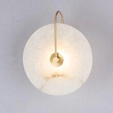 Zerouno Modern aplik lamba duvar ışık mermer abajur LED aydınlatma armatürü ev dekor yatak odası lambaları siyah bakır Lampadas
