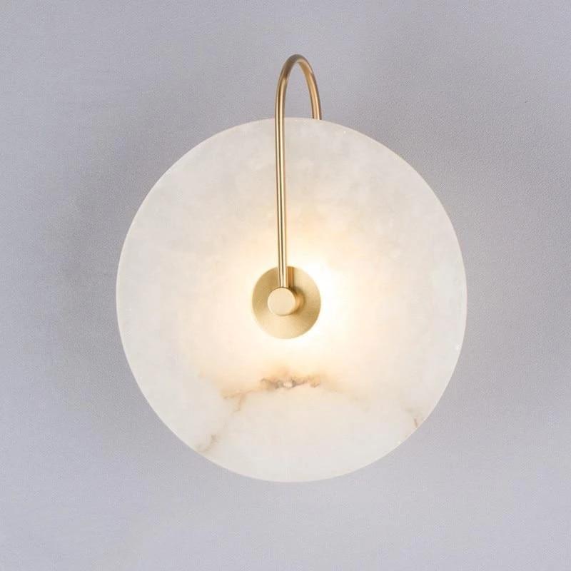 Zerouno moderne applique applique murale marbre abat-jour LED luminaire pour la décoration de la maison chambre lampes noir cuivre Lampadas