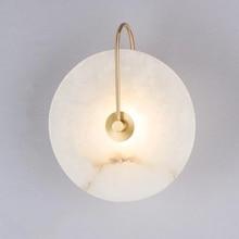 Zerouno nowoczesna kinkiet lampa ścienna marmurowa klosz oświetlenie LED do wystroju domu lampy do sypialni czarne miedziane Lampadas