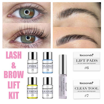 Eye Lash & Brow Lift Perming Eyelash Lift Extension Kit Curling Eye lash Glue Wave Lotion for Home Use Beauty Salon Dropshipping
