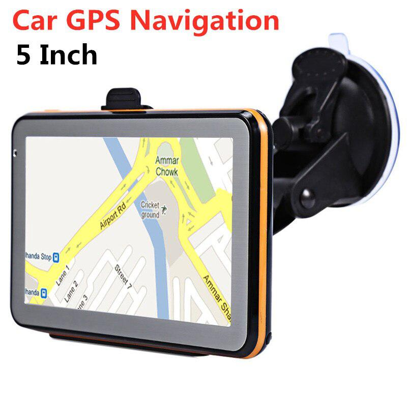 5 Inch Car GPS Navigation TFT LCD Touch Screen Wince Voice Guidance Car Auto Navigator DDR 256M+8GB With Free All World Map
