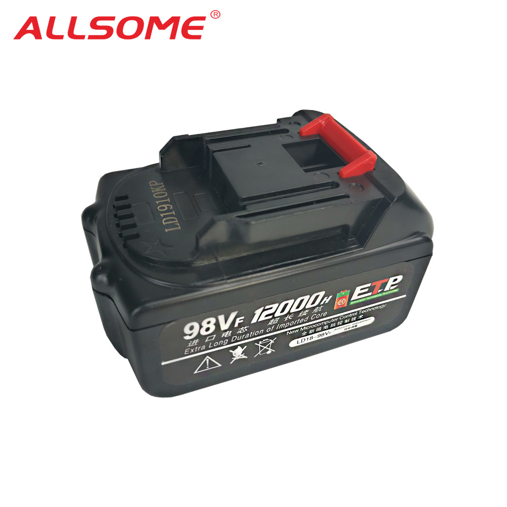 ALLSOME Electric Wrench Battery 98VF 12000mAh LD1910KP Li-ion Battery For Cordless Wrench