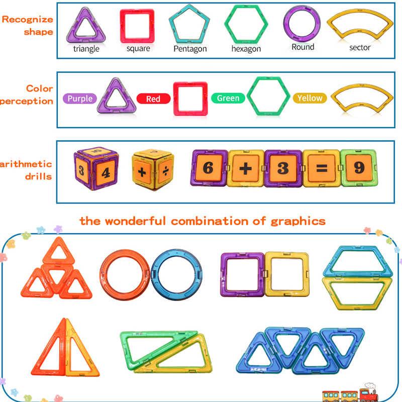 KACUU büyük boy manyetik tasarımcı inşaat seti modeli ve bina oyuncak mıknatıslar manyetik bloklar eğitici oyuncaklar çocuklar için