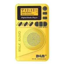 Карманный Dab цифровой радио, 87,5-108 МГц мини Dab+ цифровое радио с Mp3 плеер Fm радио с ЖК-дисплеем Дисплей и громкоговоритель