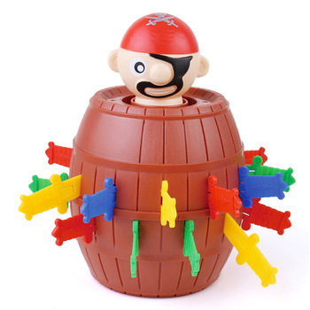 New Horror Scary and Funny Tricky Peculiar Game Stress Reliever Toys Tricky Spoof Pirate Barrel Friends Gathering Prank Toys tricky