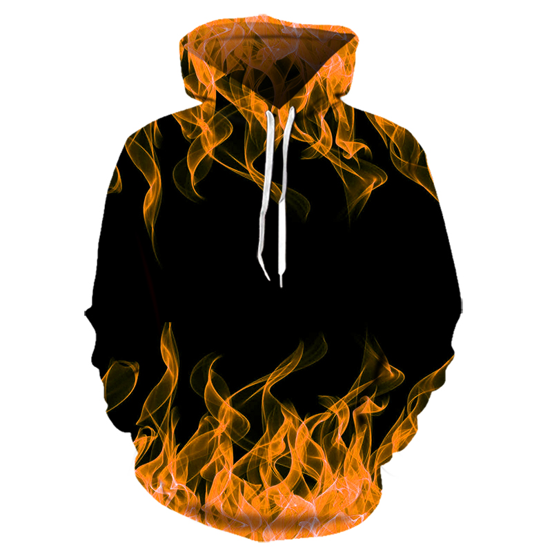 Colours Flame 3d Hoodies For Men And Women New Fashion Autumn Spring Pullovers Black Hoodies Sweat Homme 3D Tracksuit 2020