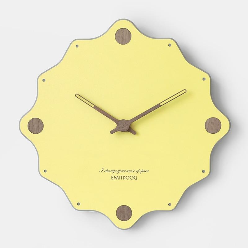 Coloré géométrique Design horloge murale nordique bureau moderne horloges murales chambre belle minimaliste Zegar Scienny décor à la maison SS50WC