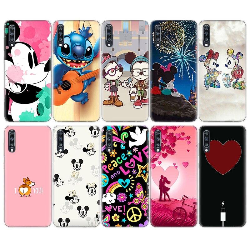 Disneys Cartoon Flower Love Heart TPU Case For Samsung Galaxy A51 A71 A50 A70 A20 A30 A40 A10 A20E J4 J6 A6 A8 A7 A9 2018 C