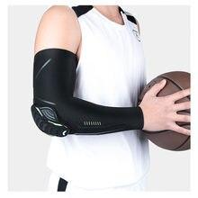 1 peça braço de esportes mangas guarda manguito favo de mel anti-colisão cotovelo brace conjunta basquete ao ar livre ciclismo engrenagem protetora 2021