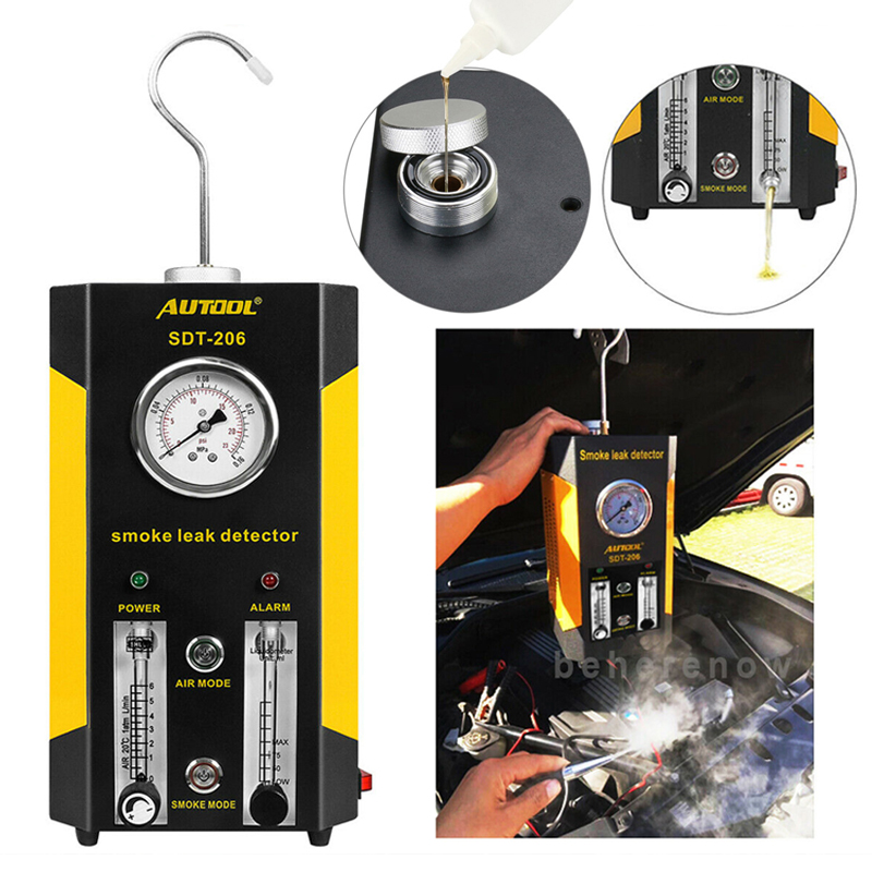 AUTOOL NEW SDT206 Smoke Generator For Cars Car Smoke Machines Leak Locator Automotive Diagnostic Leak Detector SDT 206