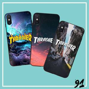 FHNBLJ Street fashion brand THRASHER Phone Case Capa Phone Case Cover for iPhone 6S 6plus 7 7plus 8 8Plus X Xs MAX 5 5S XR 10(China)