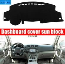 цена на For Toyota Highlander 2008 2009-2013 Car Dashboard Cover Dashmat Dash Mat Pad Sun Shade Dash Board Instrument Carpet Accessories