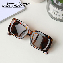 Vintage Leopard Sunglasses Women Men 2019 Brand Design Squar