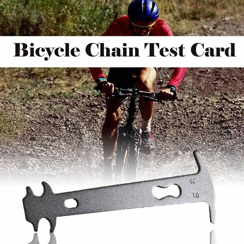자전거 체인 테스트 캘리퍼스 도로 접이식 자전거 산악 자전거 체인 착용 교체 감지 카드 레일 도구