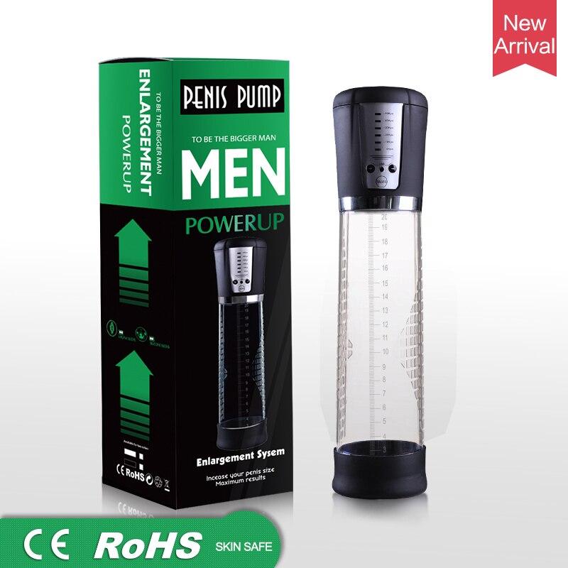 USB Rechargeable Penis Enlarger Vacuum Pump Electric Automatic Penis Pump Powerful Penis Enlargement Extender Sex Toys For Men
