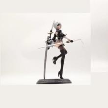 New Japan Anime Action Figure Game Nier:automata 2b YoRHa No.2 Type B Black Dress Sword Ver PVC 25CM Model Sexy Decoration Doll