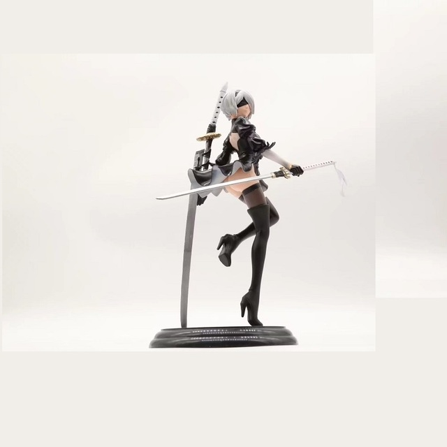 New Japan Anime Action Figure Game Nier:automata 2b YoRHa No.2 Type B Black Dress Sword Ver PVC 25CM Model Sexy Decoration Doll