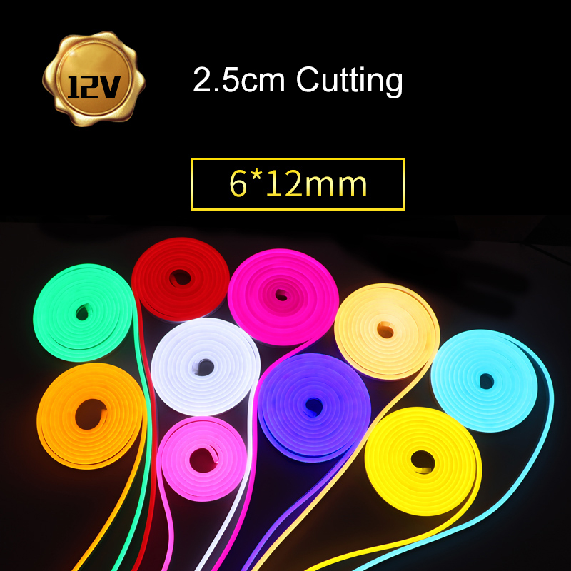 DC 12V Flexible Led Strip Neon Tape SMD 2835 Soft Rope Bar Light SMD 2835 Silicon Rubber Tube Outdoor Waterproof lighting(China)