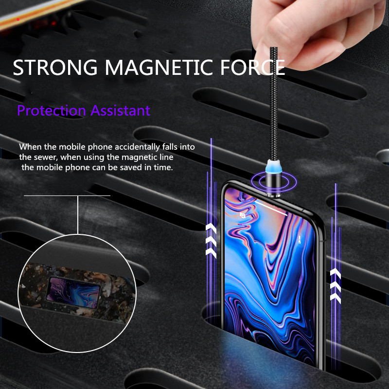 Vanniso Magnetic Cable Micro USB Fast Charging Cable For iPhone XS Samsung S8 Xiaomi K20 Type C Magnet Android Phone Cables Cord in Mobile Phone Cables from Cellphones Telecommunications