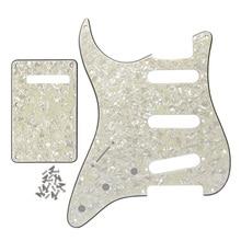 Левая 11 отверстий SSS Strat Pickguard Задняя панель для гитары крышка с винтами для США/Мексиканская FD электрогитара Strat запчасти
