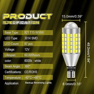 Светодиодный светильник T15 W16W T16, 2 шт., Canbus, без ошибок OBC, светодиодный резервный светильник 921, 912, светодиодный фонарь заднего хода, ксенонов...