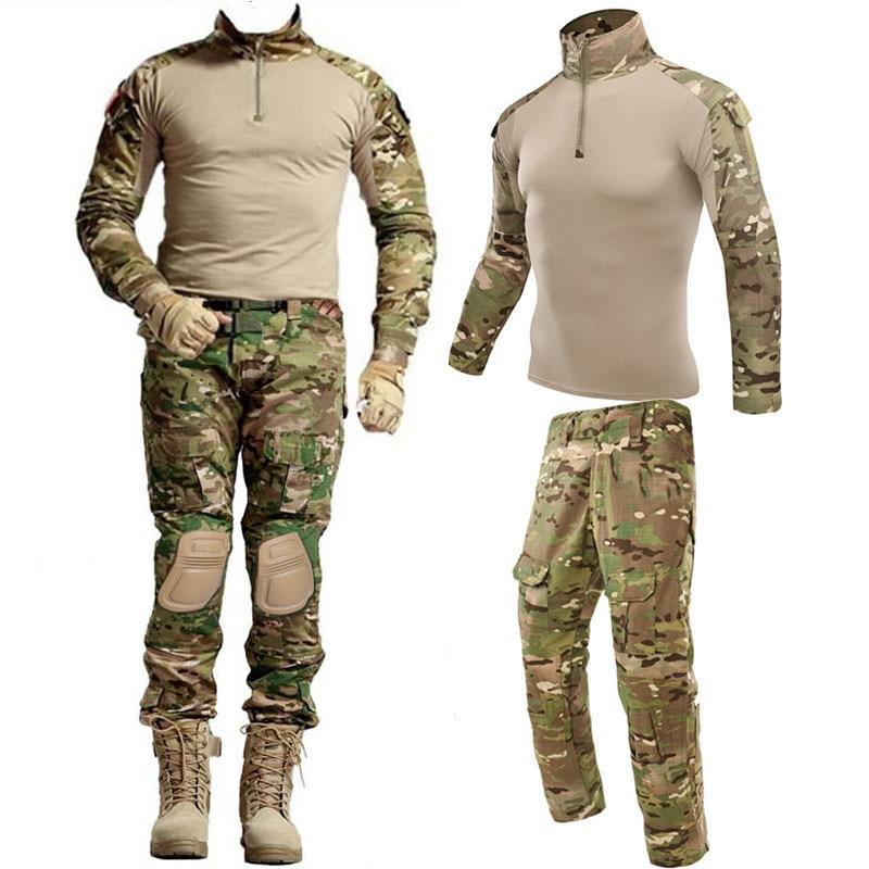 Tactical Military Airsoft Kleidung Anzüge Einheitliche Ausbildung Anzug Camouflage Jagd Shirts Hosen Paintball Sets Military Pant Männer
