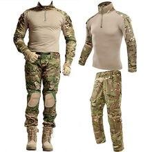 Tático militar airsoft roupas ternos terno de treinamento uniforme camuflagem caça camisas calças conjuntos paintball militar pant men