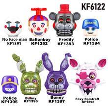 FNAF-Juego de bloques de construcción para niños, 8 Uds./KF6121, juguetes de bloques de acción, Chica, Foxy, Spintraft