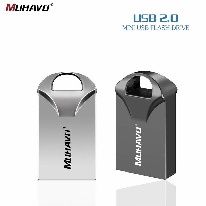 Super Mini Usb Flash Drive 128gb Pen Drive 32gb Flash Drive 2.0  64gb 16gb Usb Stick Memoria Metal Pendrive 8GB Free Custom LOGO