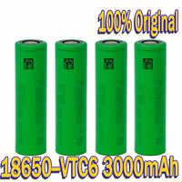 Batería de iones de litio VTC6 original, 18650, 3000 mAh, 3,7 V, SONY us18650, vtc6, 3000 mAh, USO doméstico