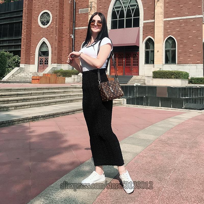 Winter Faldas Mujer Moda 2019 Abaya muslim Knitted High Waist Maxi Pencil Long Skirt Jupe Longue Femme Skirts Womens Clothing