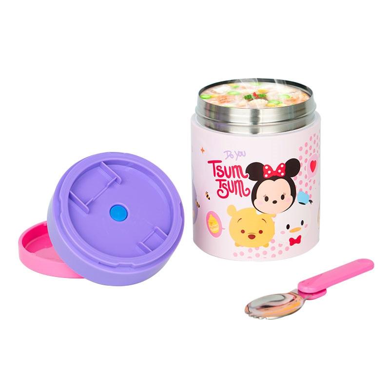 650mL Disney Mickey Cartoon Insulated Lunch Box 304 Stainless Steel Warm Cans Children Portable Porridge Soup Steamer Pot