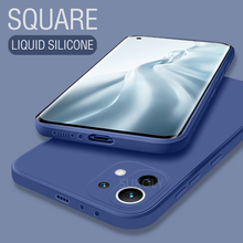 Custodia in Silicone liquido quadrata originale per Xiaomi Mi 11 Lite Pro Ultra Camera Lens Cover posteriore protettiva Mi 11 Pro 11 Ultra Lite
