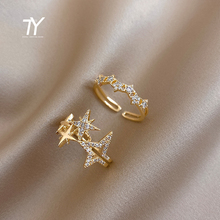 2020 new luxury zircon star opening women's ring sexy finger accessories versatile wedding party ring girl's fashion jewelry
