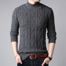 Turtleneck Sweater Jersey Pullover Knitted Long-Sleeve Half Men Youth Casual Bottoming
