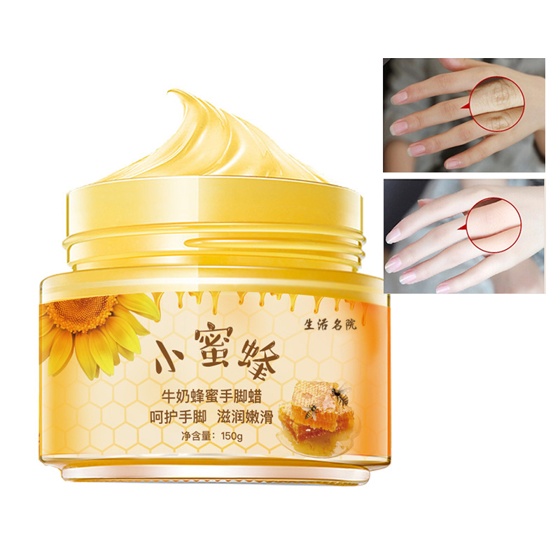 Mlik Honey Hand Mask Hand Wax Moisturizing Whitening Skin Care Peel Off Mask Exfoliating Calluses Hands Care Cream 150ml