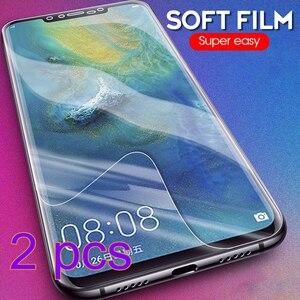 2 sztuk hydrożel Film dla Huawei P20 30 Lite P inteligentny Z 2019 Ultra cienka folia przednia dla Huawei V30 Pro Nova6 SE Honor 10 Lite 20 Pro