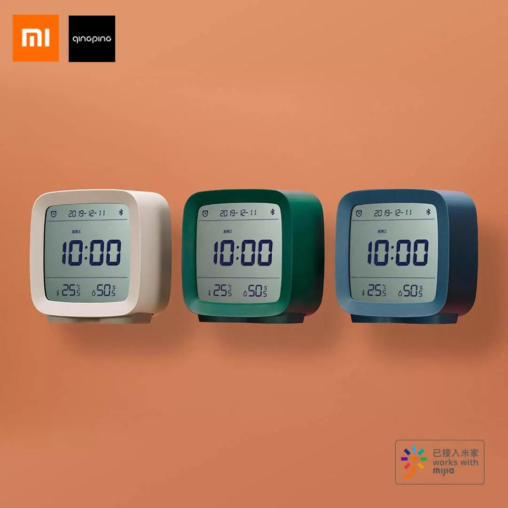 Xiaomi Qingping 3 In1 Bluetooth Digital Alarm Clock Humidity Thermometer Temperature Monitoring Night Light with Mijia App image