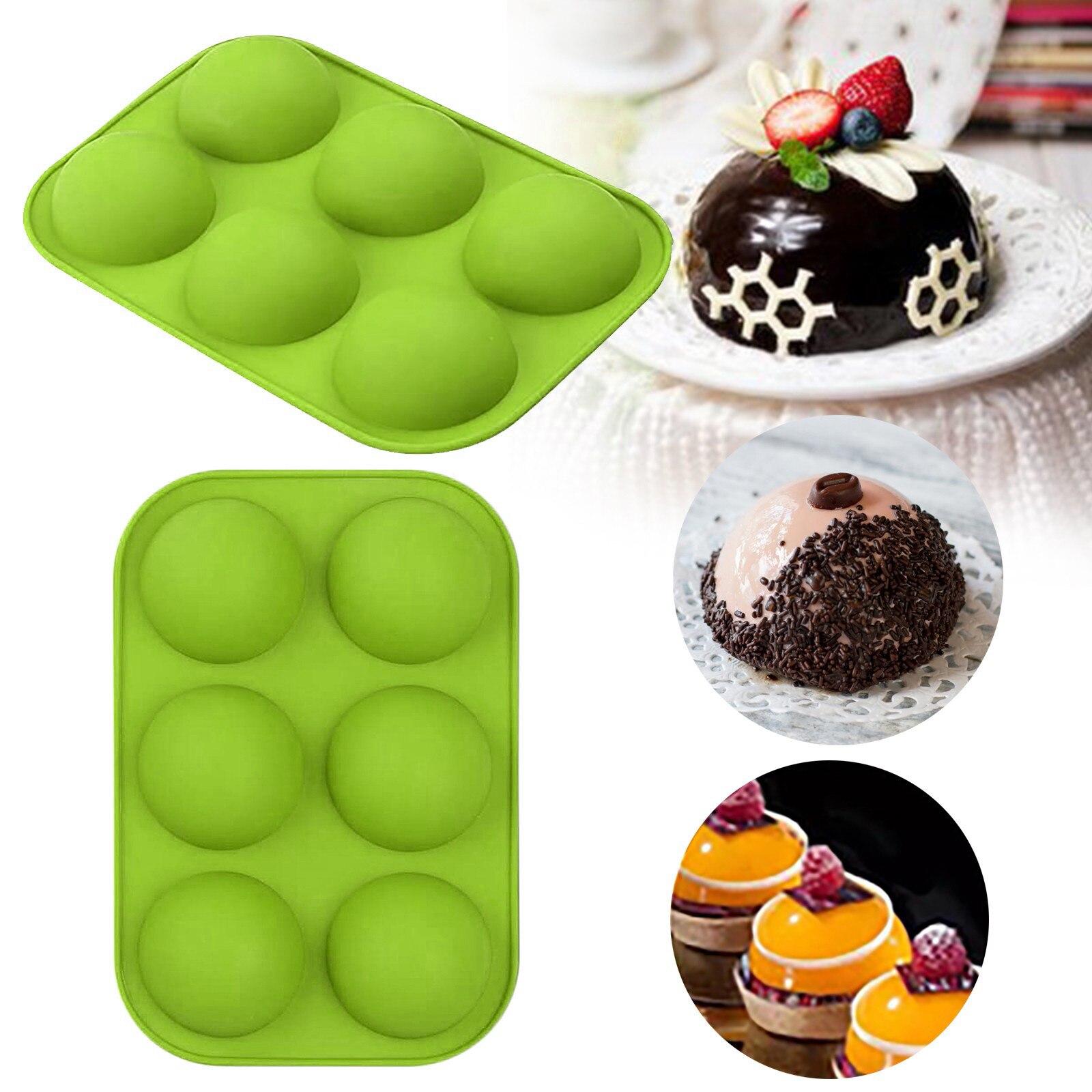 25 # Средний полу сферы силиконовые формы 2/3 пакеты пресс-формы для выпечки для приготовления шоколада силиконовая форма для пирога купол м ^ ...