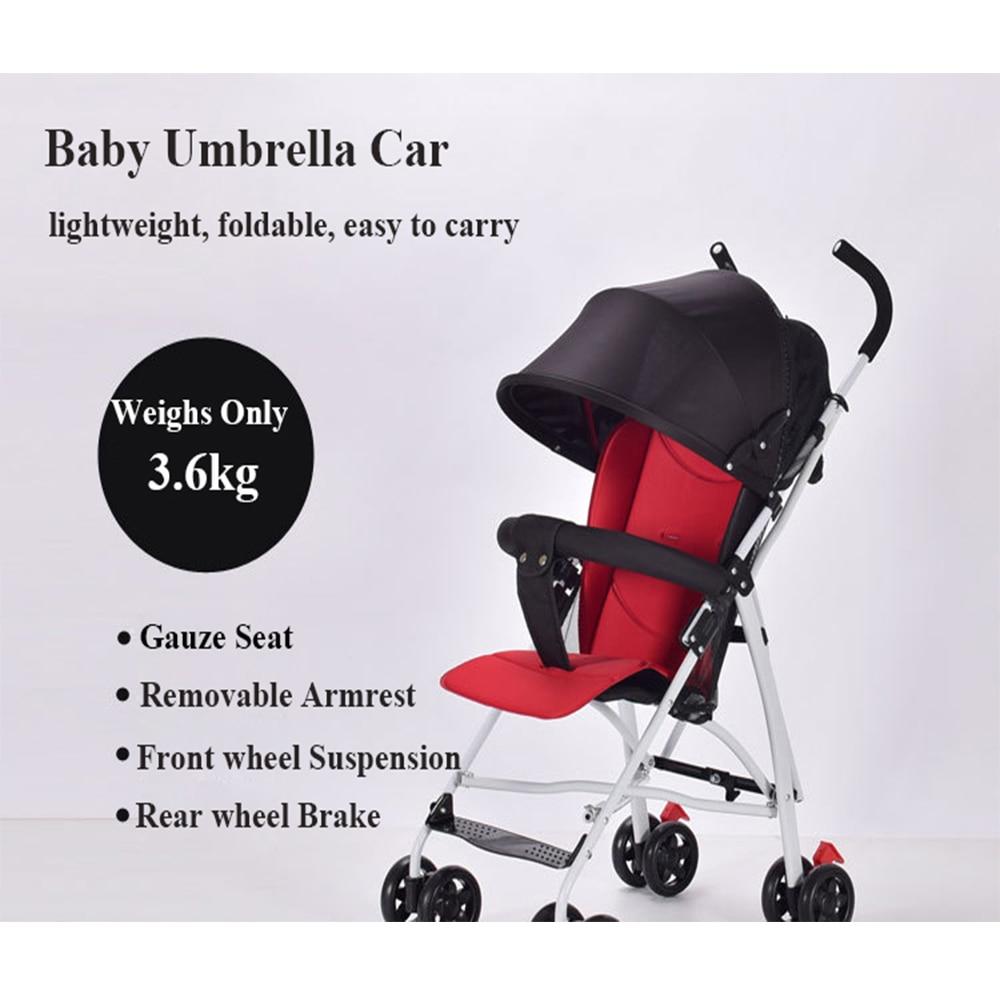 Lightweight Pram Baby Carriage Portable Baby Car Baby Four Wheel Stroller Yoya Stroller Wagon Portable Folding Baby Stroller