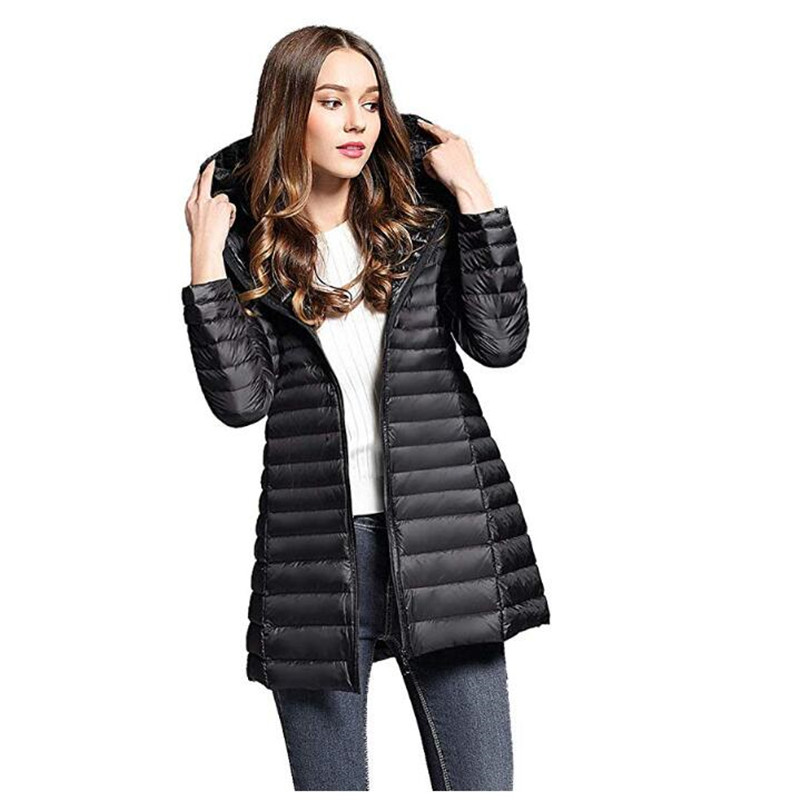 Women's Winter   Down     Coat   Puffer Jacket Packable Lightweight Hooded Slim Warm Outerwear