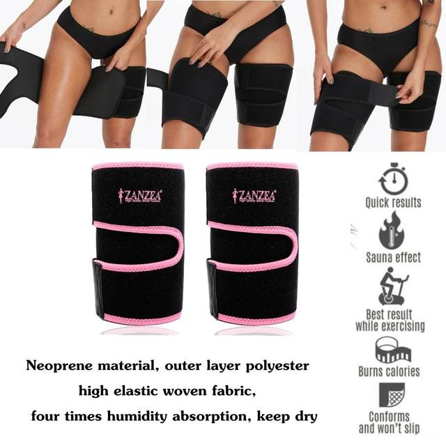 Pair Sweat Sauna Adjustable Arm / Thigh Belt Fat Burner Trainer Sports Gym Slimmer Weight Loss Shaper Muscle Slim Belt 2