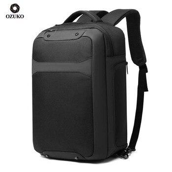 цена на OZUKO Anti-theft Men Laptop Backpack fit 15.6 inch Multifunction USB Charging Waterproof Backpacks Male Travel Bag Mochila