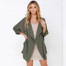 2019 Autumn Women Long Sleeve irregular Turndown collar Jacket Casual Slim Fit Lady Elegant Blazer Pocket Outfits Femme Coat slim fit lapel collar seam pocket spliced blazer